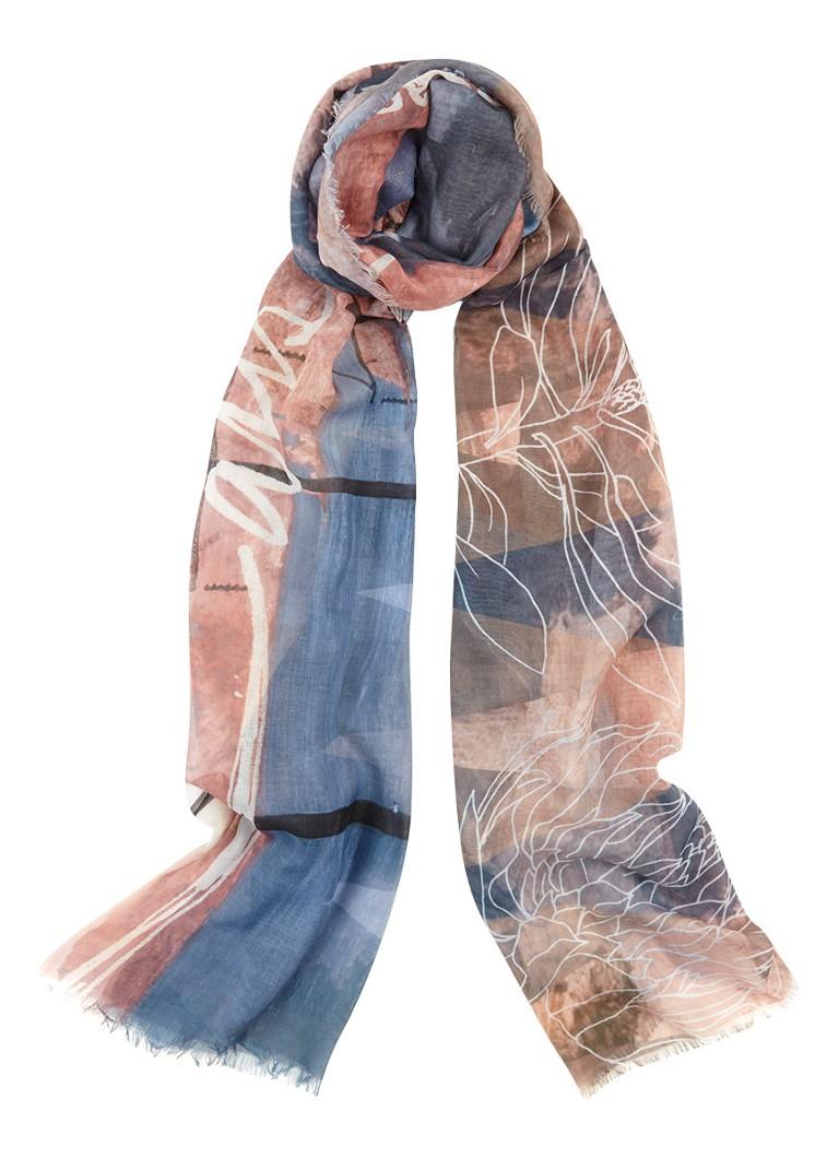 Barts Nuuk sjaal met dessin 200 x 100 cm