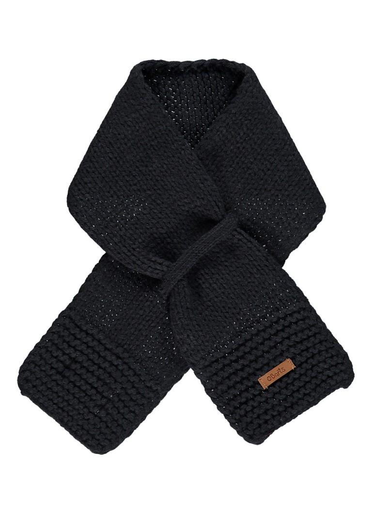 Barts Yuma grofgebreide sjaal in uni 70 x 10 cm