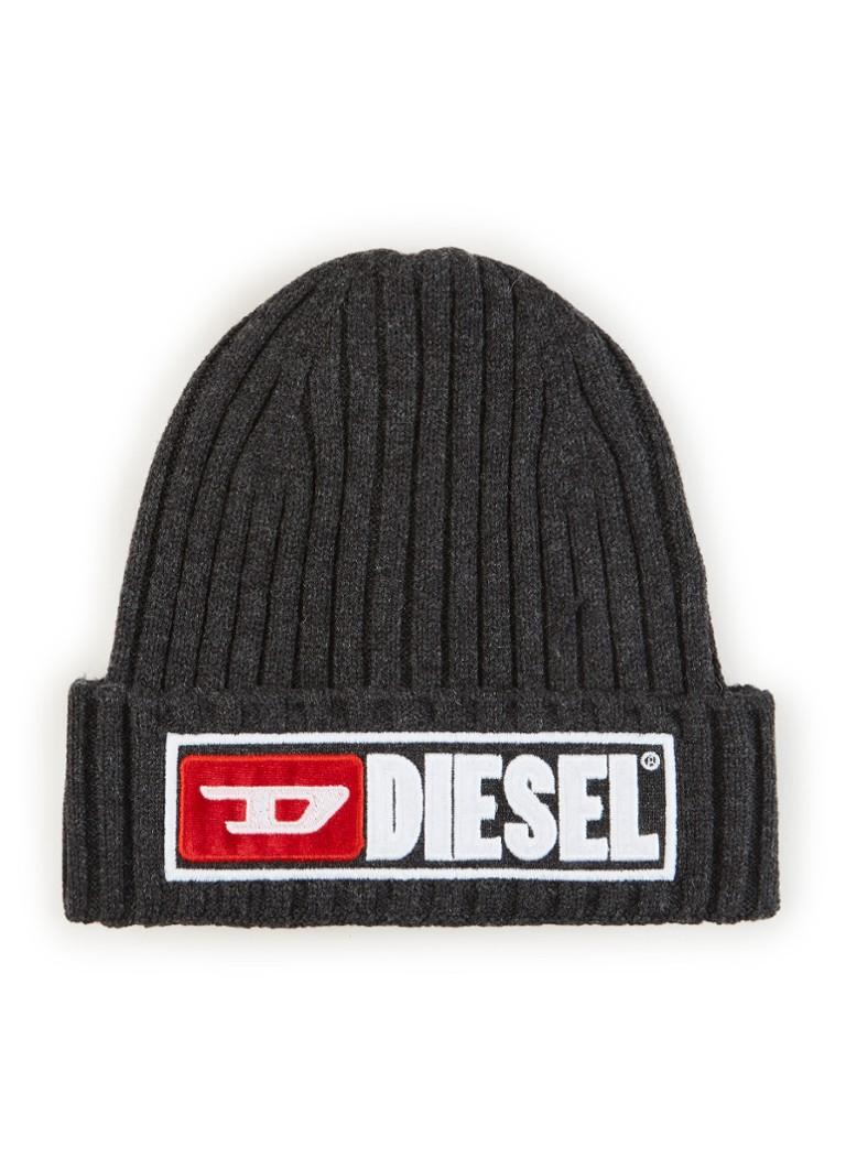 Diesel K-Coder muts in katoen wolblend met logo