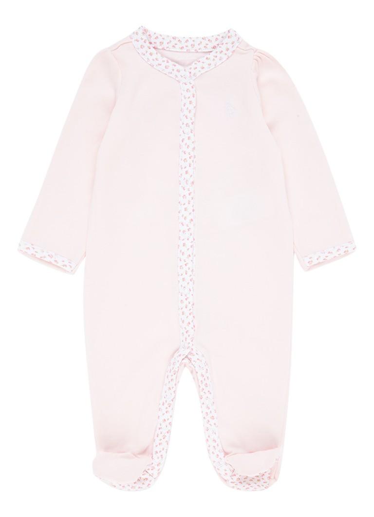Ralph Lauren Babypak met contrastbies met bloemendessin kopen