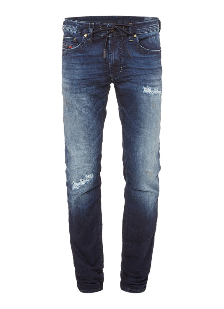 Diesel Thavar joggjeans met destroyed look 0678S