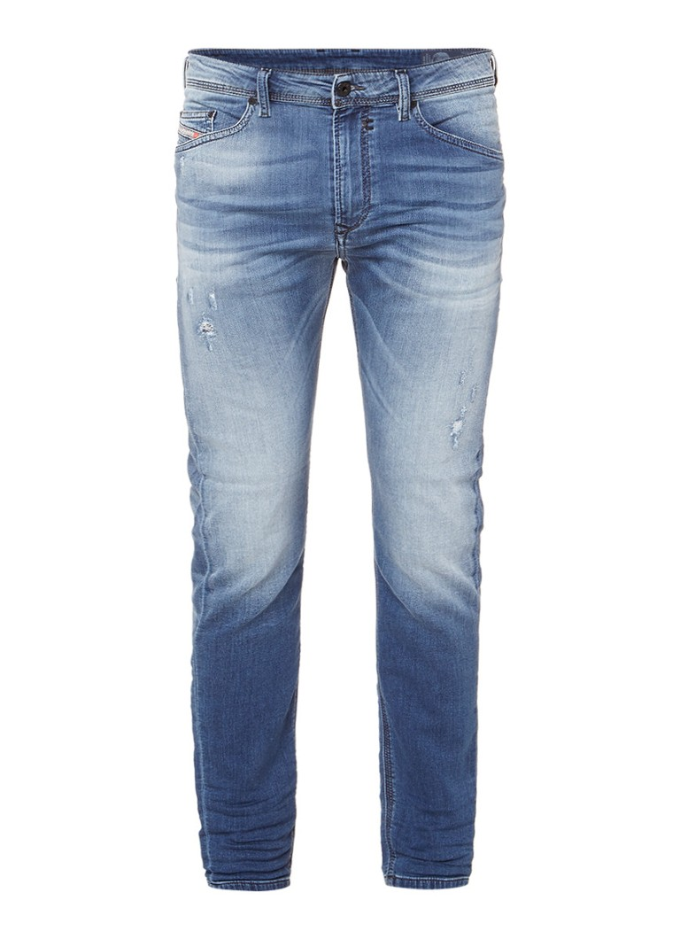 Diesel Spender-NE 0678M slim fit sweat jeans met stretch