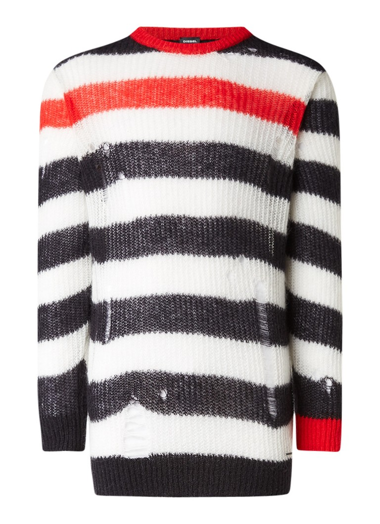 Diesel K-Dock destroyed pullover in mohairblend