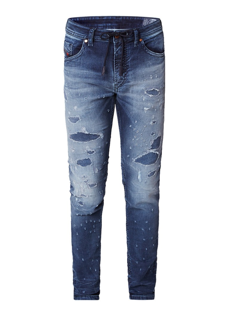 Diesel Thommer jogg jeans met destroyed look 069CC