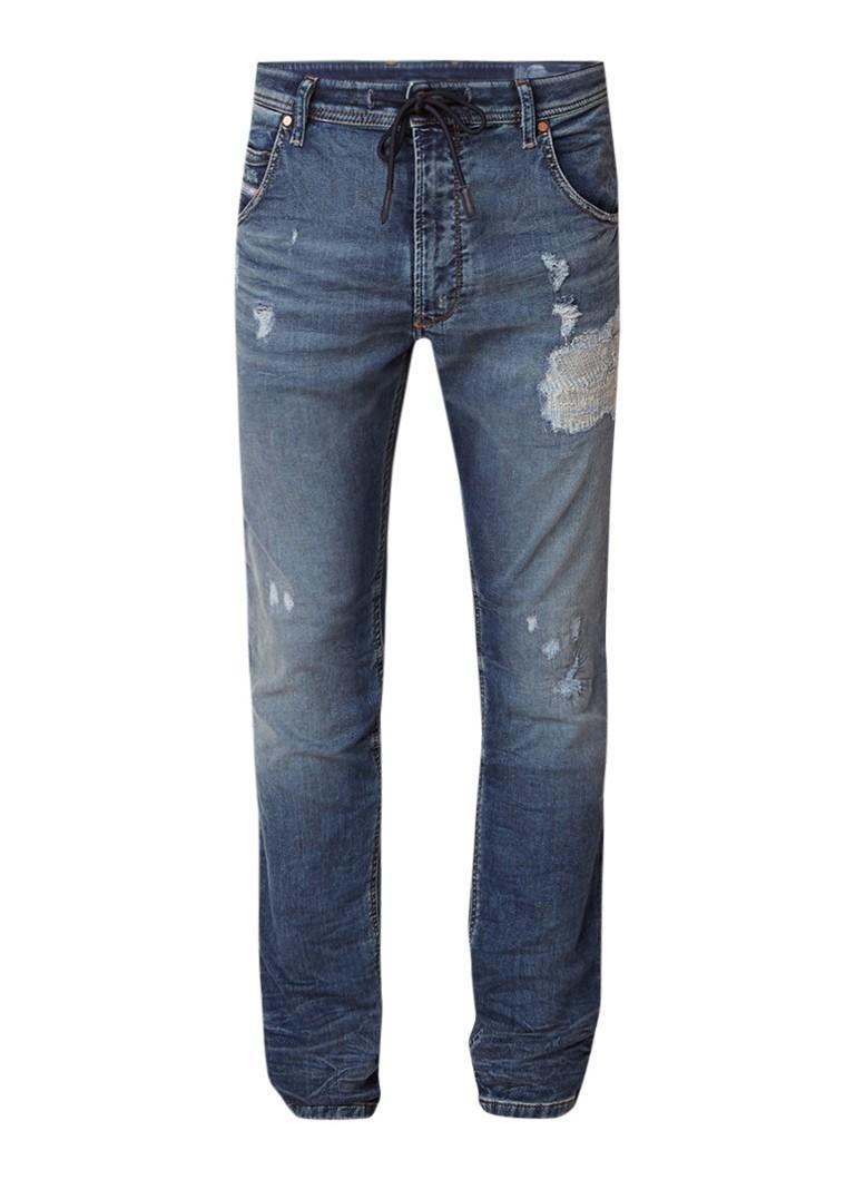 Diesel Krooley jogg jeans met destroyed details 069DA