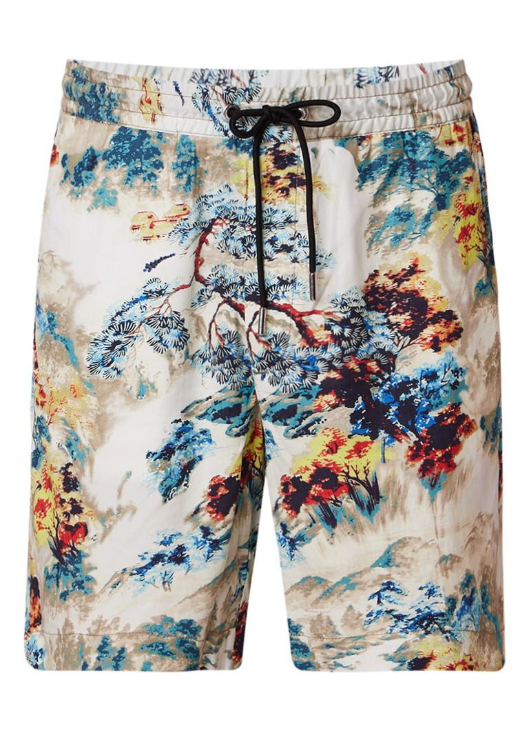 Diesel P-Noten shorts met print en steekzak