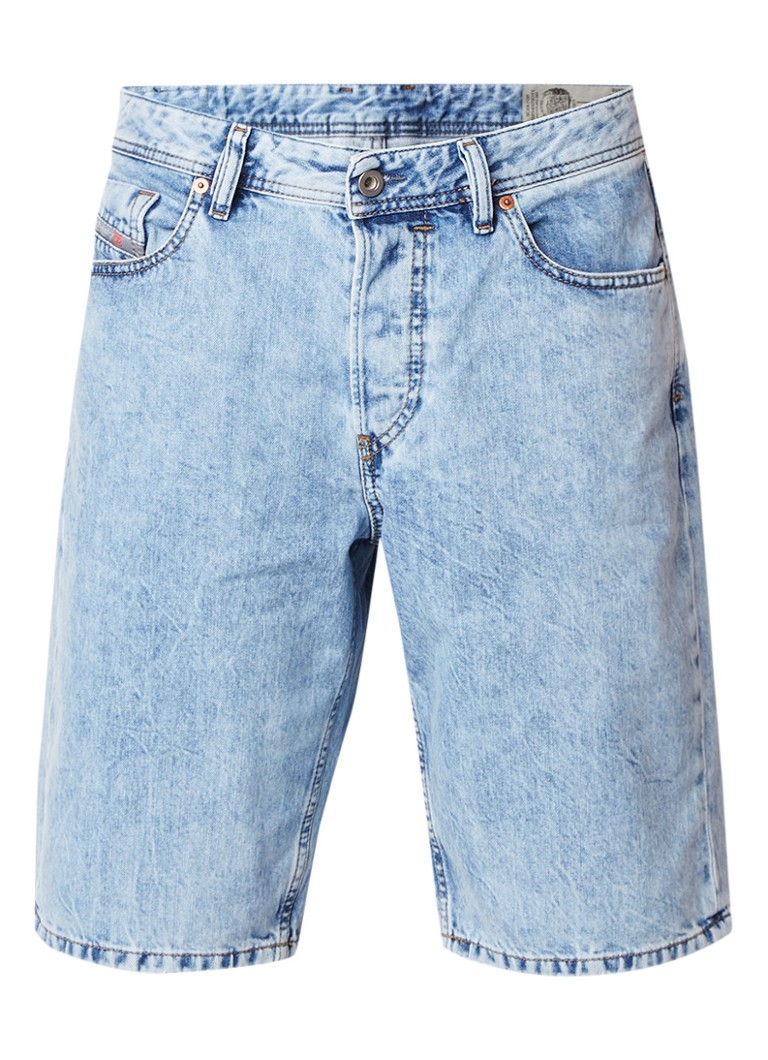 Diesel Keeshorts regular fit denim shorts met verwassen look 084RE