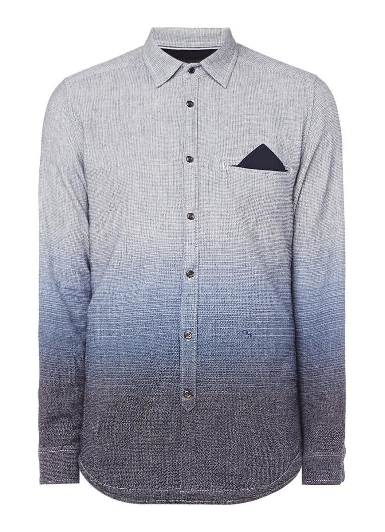 Diesel S-Miramar overhemd met ombre effect