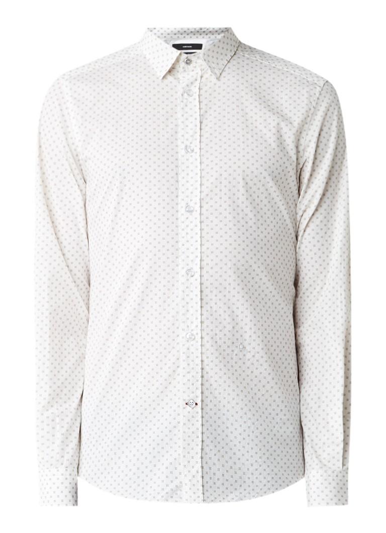 Diesel S-Blanca slim fit overhemd met grafisch dessin