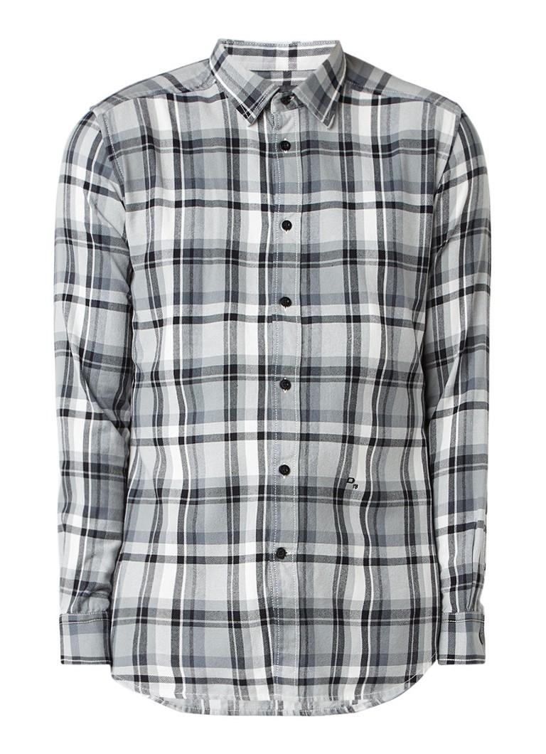 Diesel S-Luck regular fit overhemd met ruitdessin
