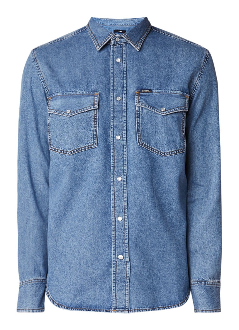 Diesel D-Rooke regular fit overhemd van denim