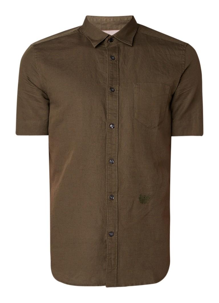 Diesel S-Venetian regular fit overhemd met korte mouw
