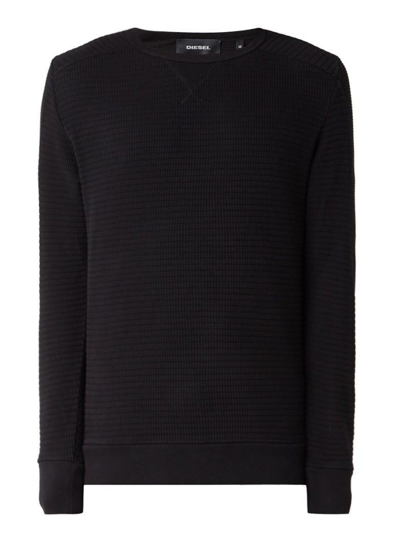 Diesel Jerry ribgebreide sweater van katoen