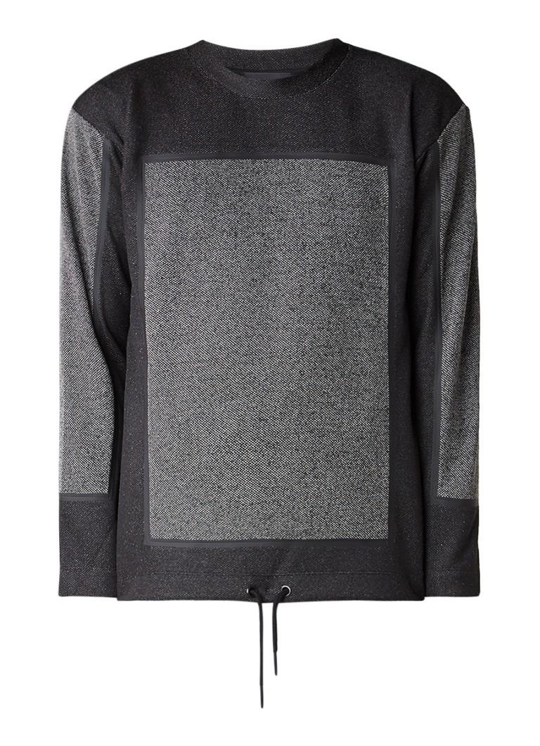 Diesel S-Rev sweater met gemêleerd contrast