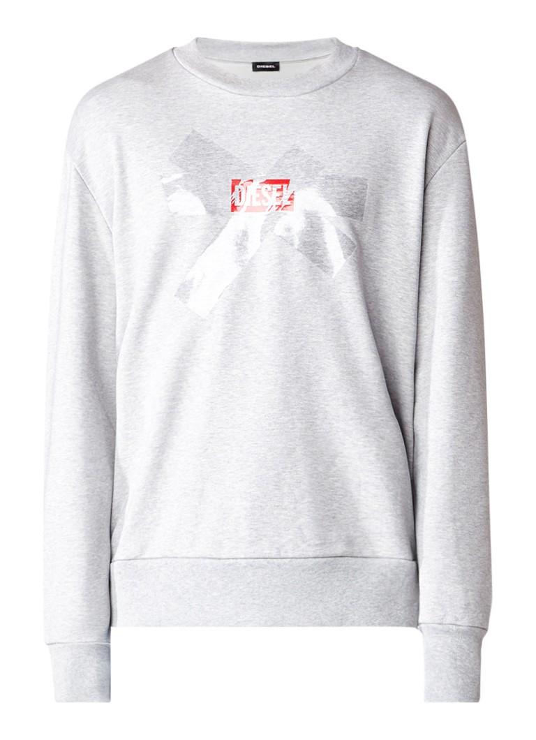 Diesel S-Bay sweater met logoprint