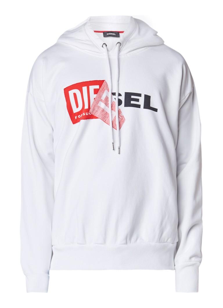Diesel S-Alby hoodie met logoprint en applicatie
