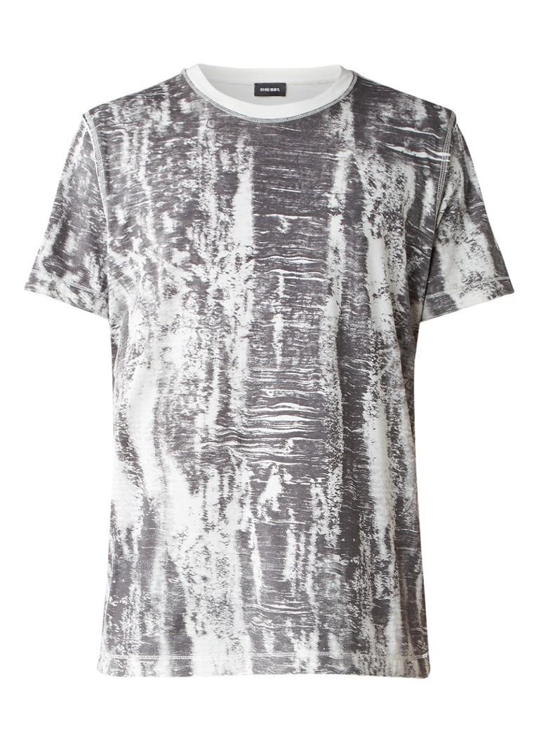 Diesel T-Joe T-shirt met abstracte print