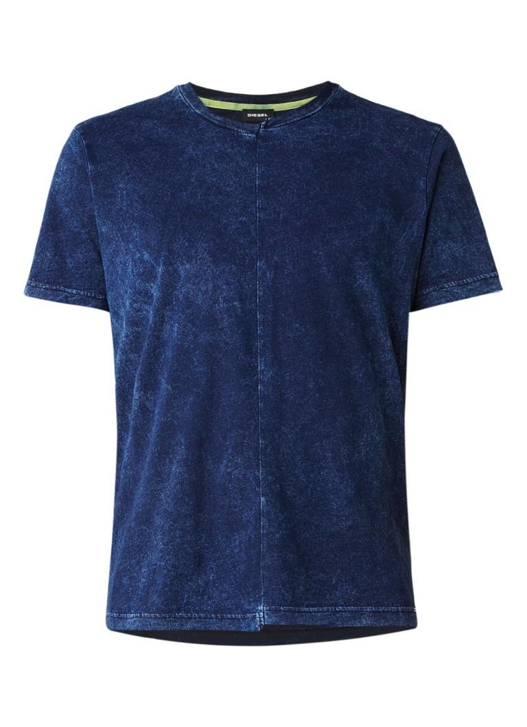 Diesel T-Dinty T-shirt met denim look