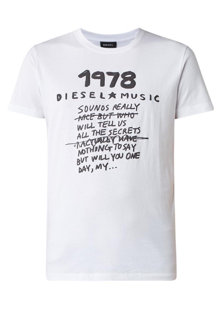 Diesel T-Diego-NB T-shirt met tekstprint