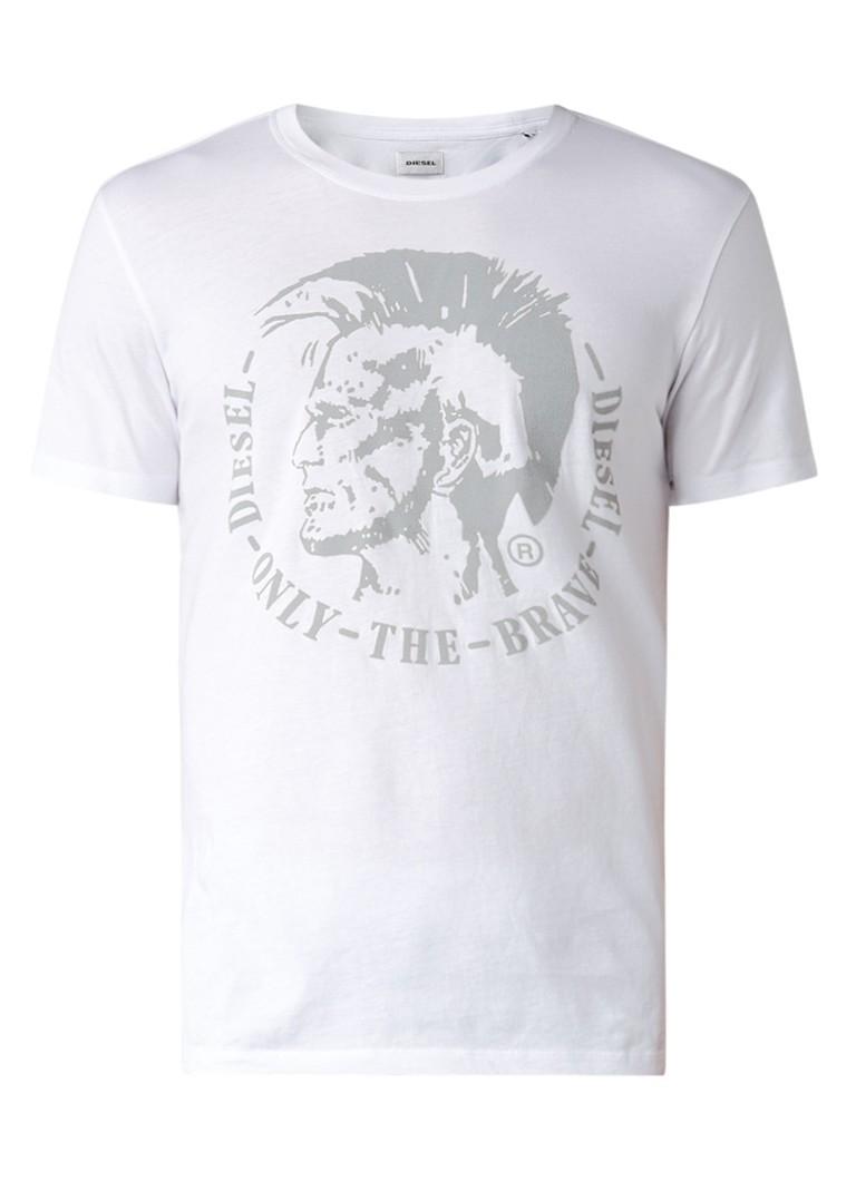 Diesel Diego T-shirt met flockprint