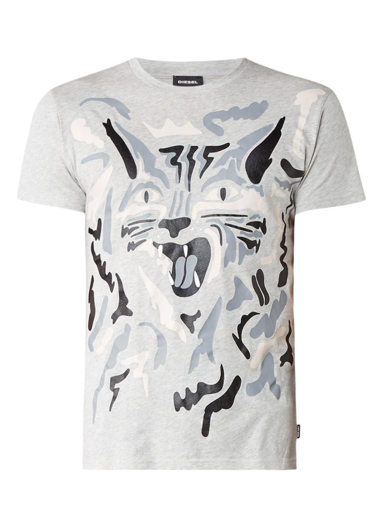 Diesel T-Diego T-shirt met kattenopdruk