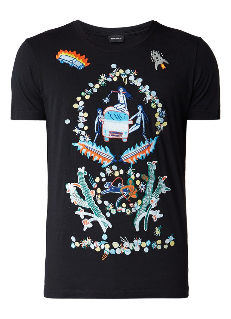 Diesel T-Diego T-shirt met geborduurd dessin