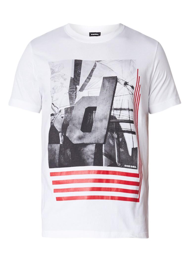 Diesel T-Joe T-shirt met fotoprint