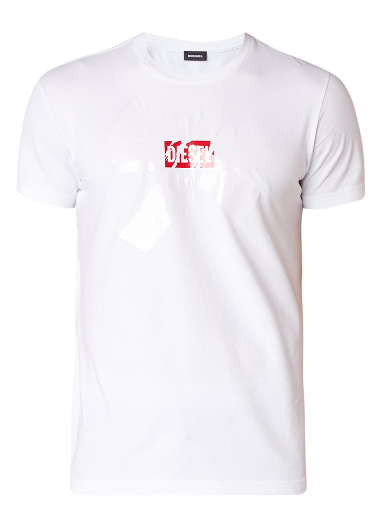 Diesel T-Diego T-shirt met logoprint en applicatie