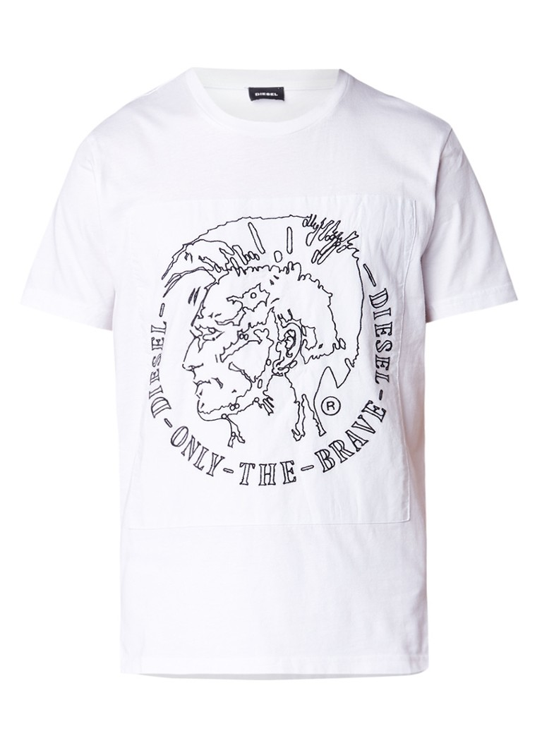 Diesel T-Edward T-shirt met borduring