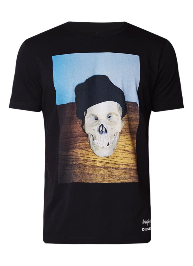 Diesel T-Joe T-shirt met skull print