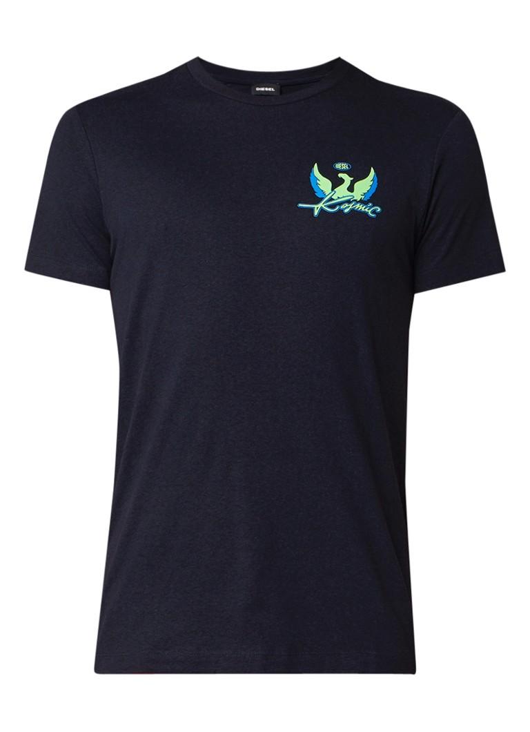 Diesel T-Diego T-shirt in katoenblend met opdruk