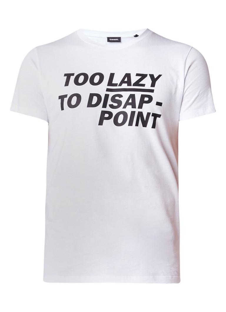 Diesel ADV Too Lazy T-shirt van katoen