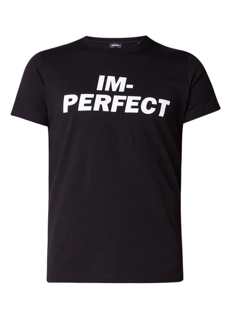 Diesel ADV-I'm-Perfect T-shirt van katoen
