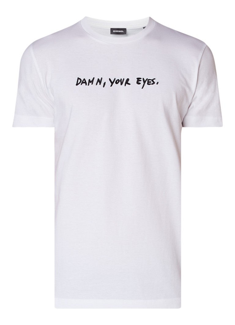 Diesel T-Diego Damn Your Eyes T-shirt met borduring