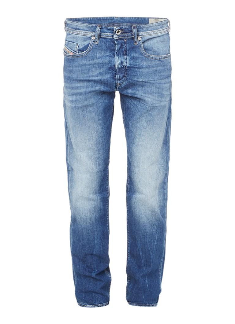 Diesel Buster tapered jeans met faded look 0859R