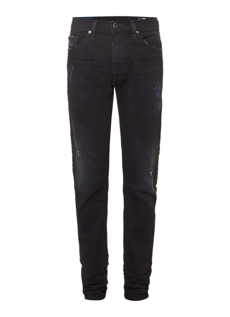 Diesel Thommer mid rise sinny jeans met destroyed look 0860H