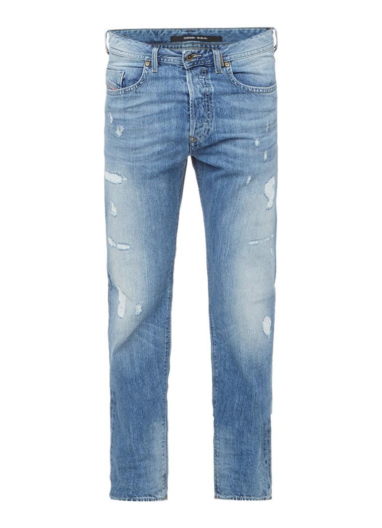 Diesel Buster mid rise slim fit jeans met destroyed look 0859V