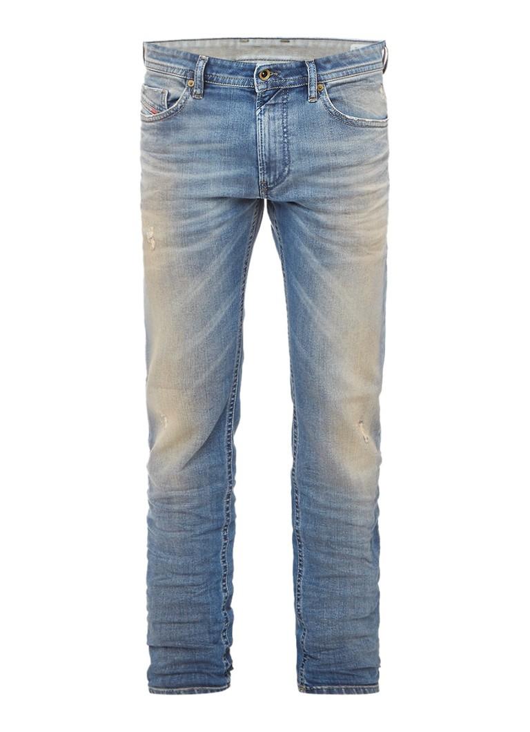 Diesel Thommer skinny jeans met destroyed look 0845F