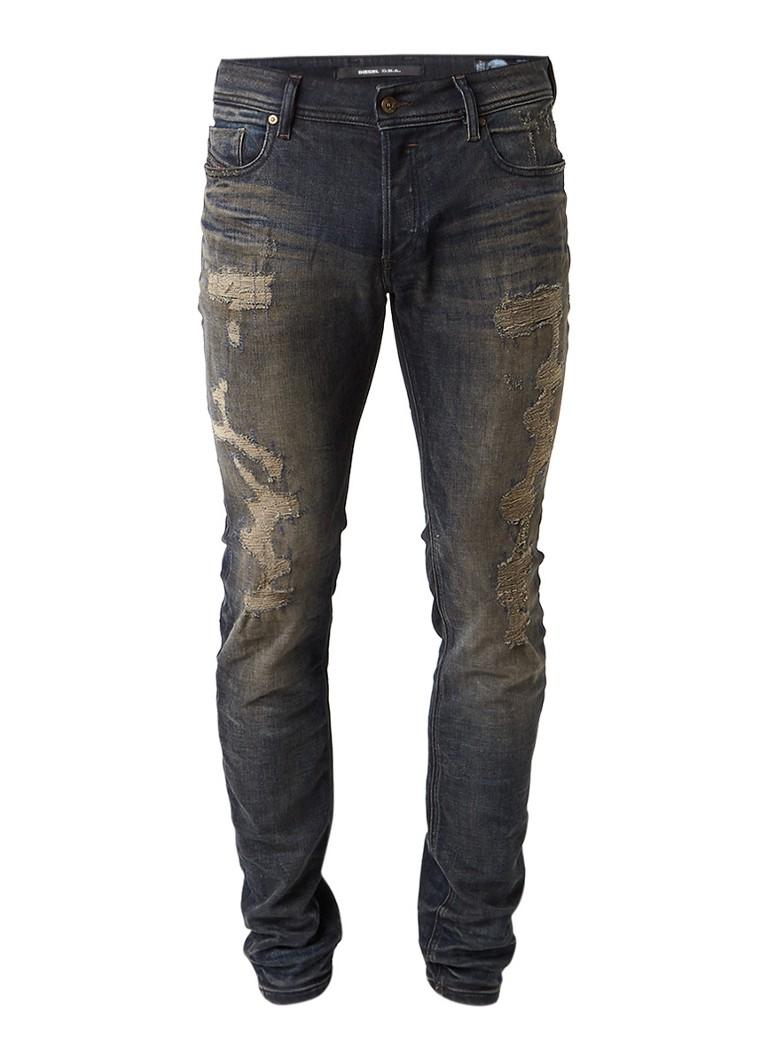 Diesel Sleenker 084DL slim-skinny destroyed jeans