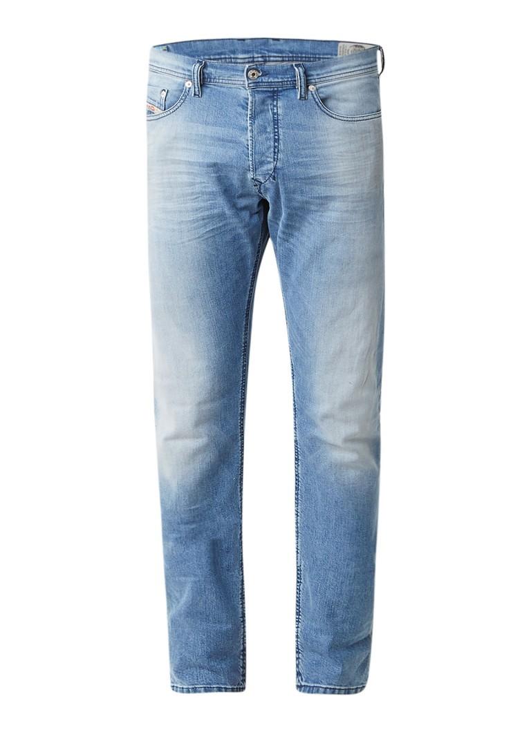 Diesel Tepphar slim-carrot jeans in lichte wassing 084CU