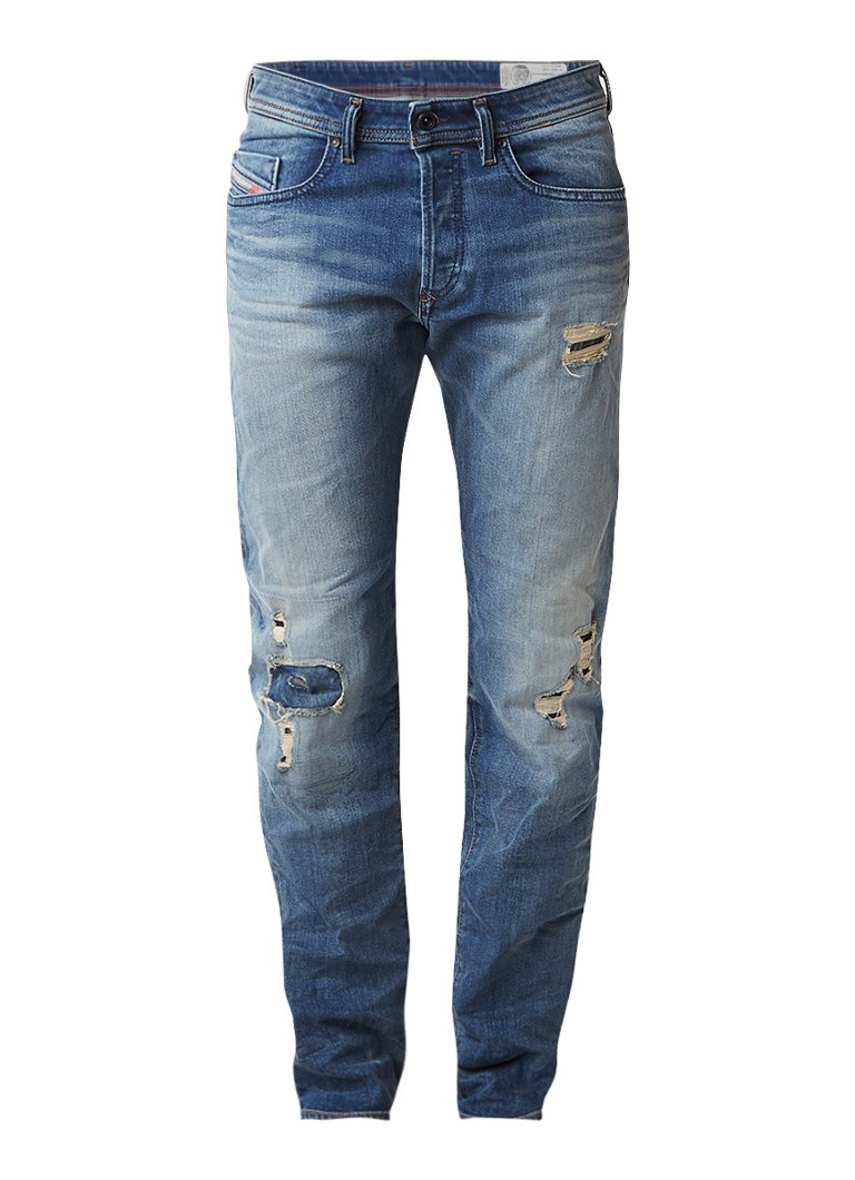 Diesel Buster regular slim-tapered fit jeans 0859S stretch