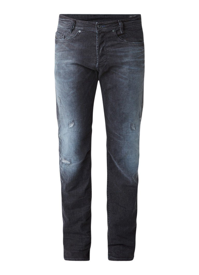 Diesel Akee regular slim tapered jeans met stretch 0683Q