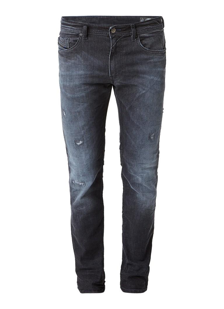Diesel Thommer mid rise skinny jeans met destroyed details 0683Q