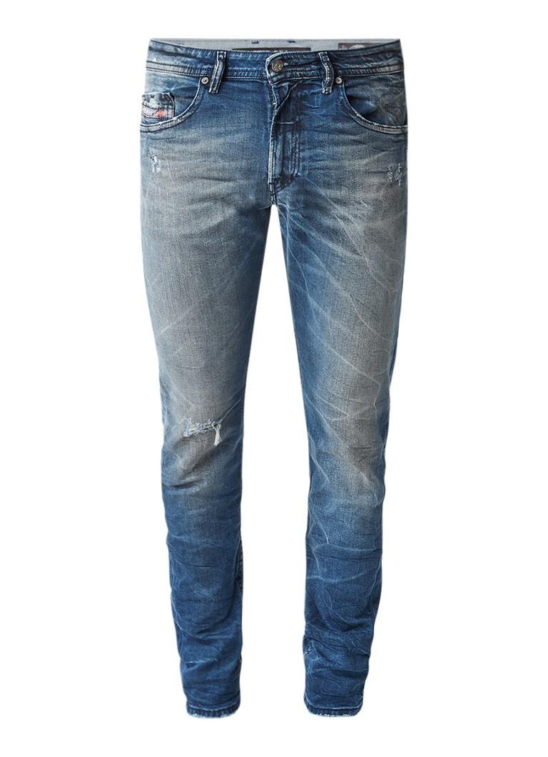 Diesel Thommer mid rise skinny jeans met destroyed look 084JL