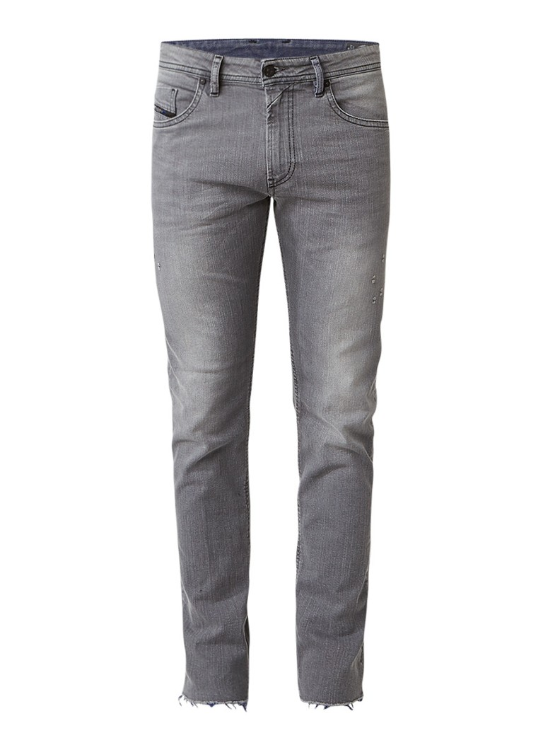 Diesel Thommer mid rise skinny jeans met destroyed details 084JT