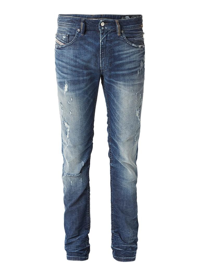 Diesel Thommer slim-skinny jeans met destroyed details 084JR