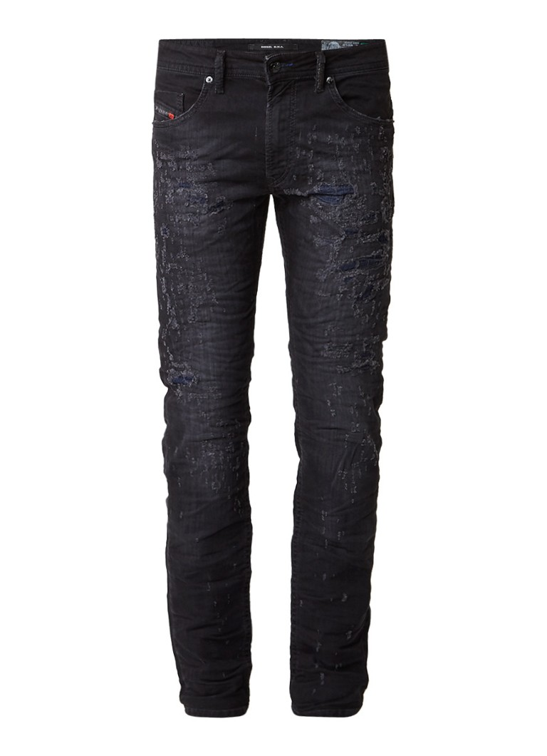 Diesel THOMMER slim-skinny fit destroyed jeans 0683T
