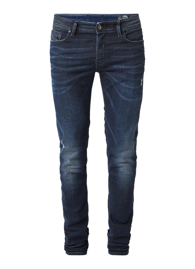 Diesel Sleenker mid rise skinny jeans met destroyed details 084JM