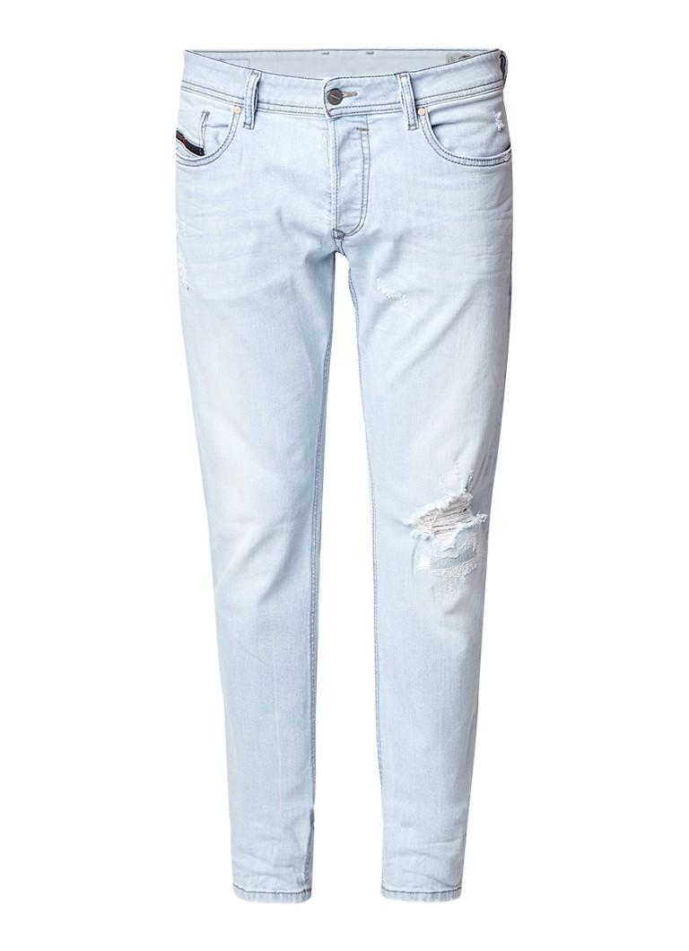 Diesel Sleenker slim-skinny jeans met destroyed details 0689L
