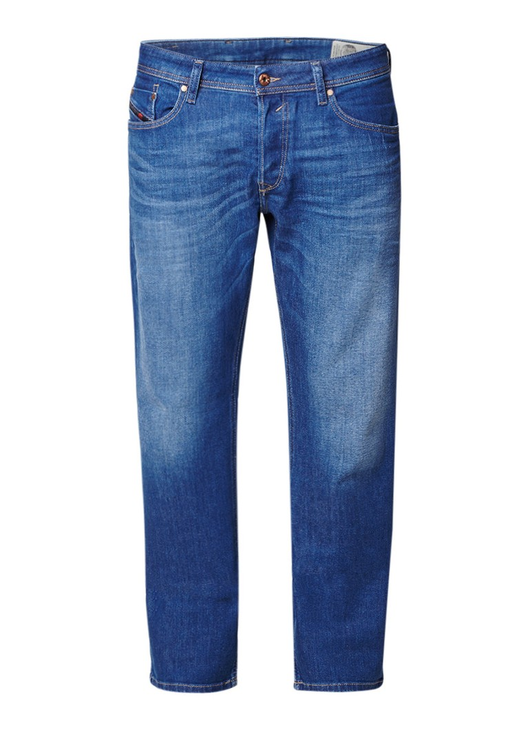 Diesel Waykee regular-straight fit jeans met faded look 084RM